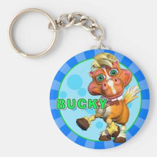 """""""GiggleBellies"""" Bucky le porte - clé de cheval Porte-clé Rond"""