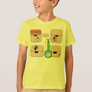 Gilet d'explorateur avec le scarabée jaune t-shirt