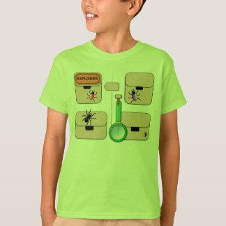 Gilet d'explorateur avec le scarabée rouge t-shirt