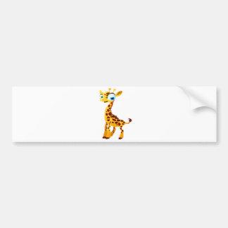 Gina la girafe autocollant pour voiture