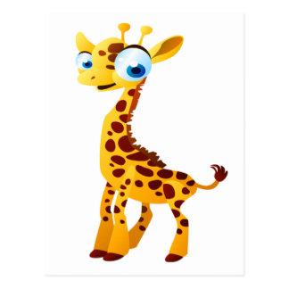 Gina la girafe carte postale