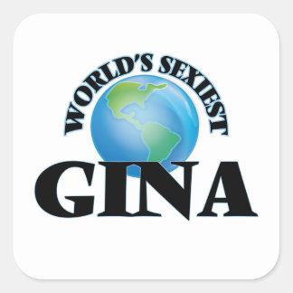 Gina la plus sexy du monde stickers carrés