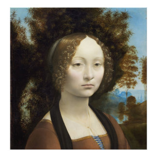 Ginevra de Benci par Leonardo da Vinci Impression Photo