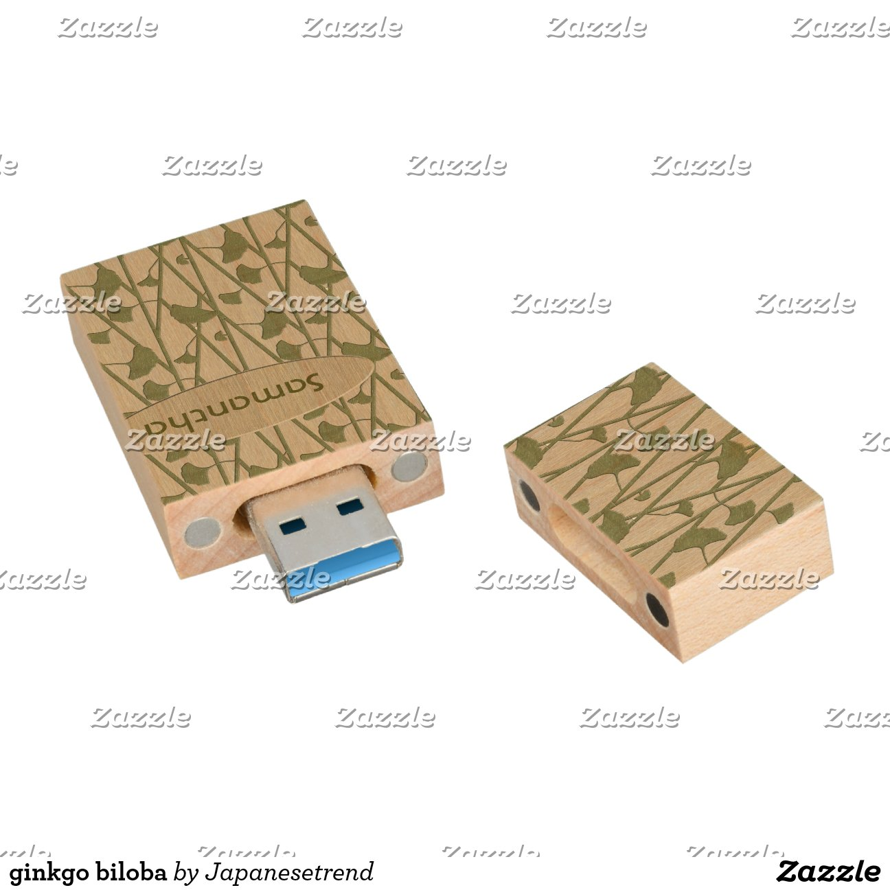 ginkgo biloba cl usb 3 0 en bois zazzle. Black Bedroom Furniture Sets. Home Design Ideas