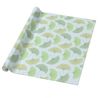 Ginkgo vert errant papier cadeau