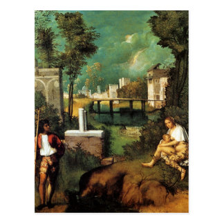 Giorgione la tempête carte postale