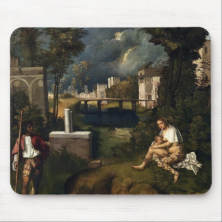 Giorgione- la tempête tapis de souris
