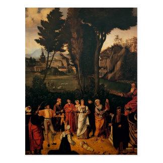 Giorgione- le jugement de Solomon Carte Postale
