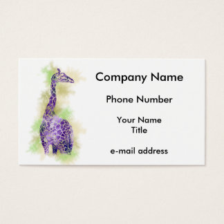 Girafe 1 d'aquarelle cartes de visite