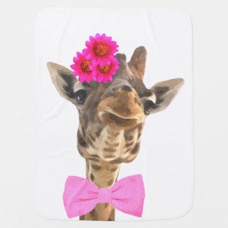 Girafe animale de jungle drôle mignonne pour le couvertures pour bébé