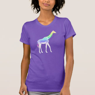 Girafe avec des taches d'arc-en-ciel t-shirt