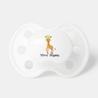 girafe avec des verres tétine