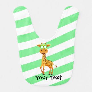 girafe avec les verres verts bavoirs de bébé
