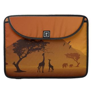 girafe avec son amour de famille de style de safar housses MacBook pro