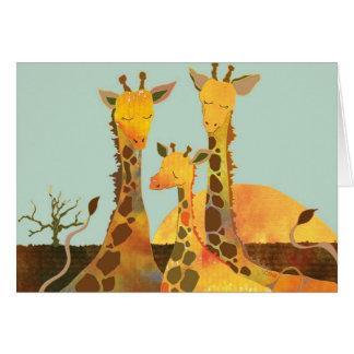 Girafe : Carte vierge