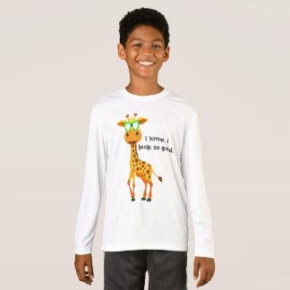 girafe dans le style avec des verres pour le t-shirt