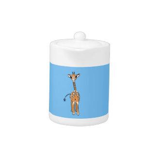 Girafe de bébé - bleu