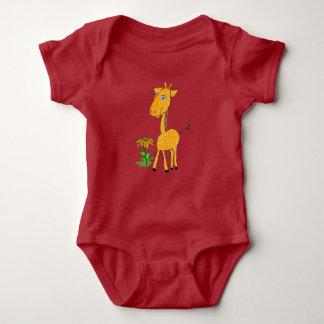 Girafe de bébé body