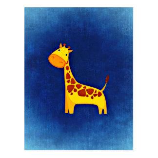 Girafe de bébé carte postale