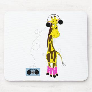 Girafe de danse tapis de souris