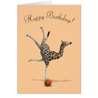 Girafe de équilibrage cartes