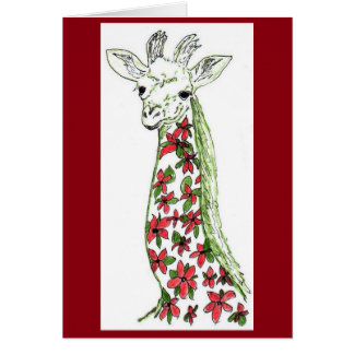 Girafe de fleur et carte africaine organique d'art