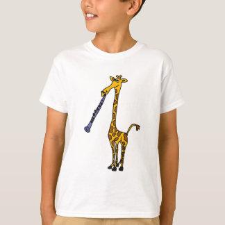Girafe de HACHE jouant la clarinette T-shirt