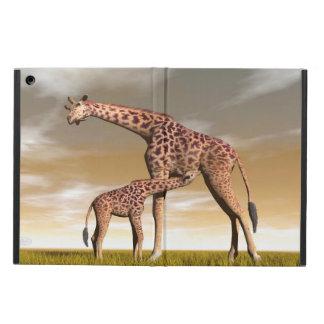 Girafe de maman et de bébé - 3D rendent