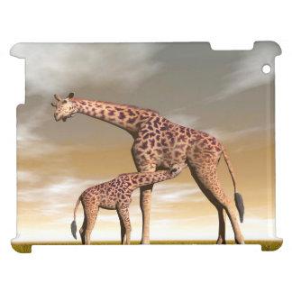 Girafe de maman et de bébé - 3D rendent Étuis iPad