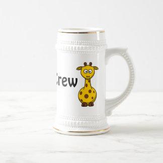 Girafe d'équipage de zoo chope à bière