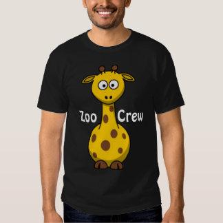 Girafe d'équipage de zoo t-shirt