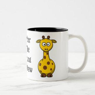 Girafe d'équipage de zoo mug bicolore