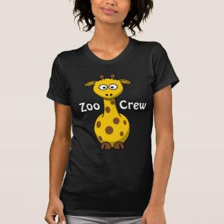 Girafe d'équipage de zoo t-shirts