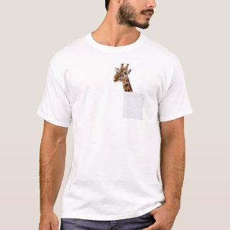 Girafe drôle dans mon T-shirt de poche
