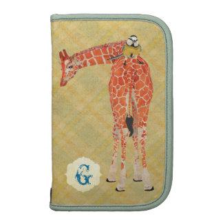 Girafe et petit Rickshaw de planificateur de Agenda