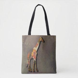 Girafe graphique tote bag