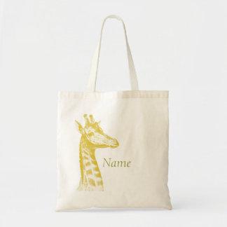 Girafe jaune sac