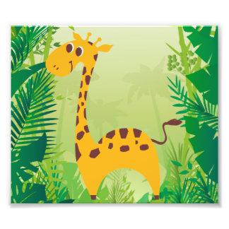 Girafe mignonne photo d'art