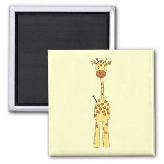 Girafe mignonne grande Animal de bande dessinée Aimant