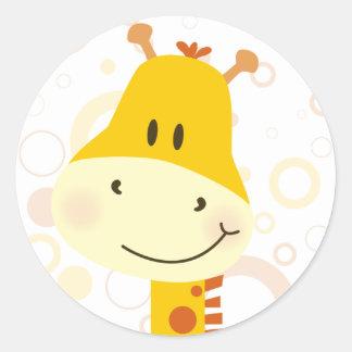 Girafe Sticker Rond