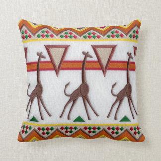 Girafes dans le coussin de l'Afrique