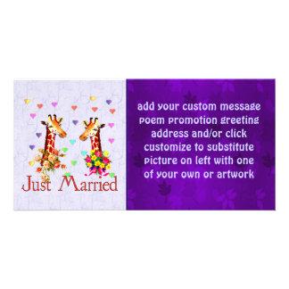 Girafes de mariage photocartes