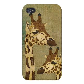 Girafes en bronze d'or i coque iPhone 4 et 4S