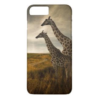 Girafes et le paysage coque iPhone 7 plus