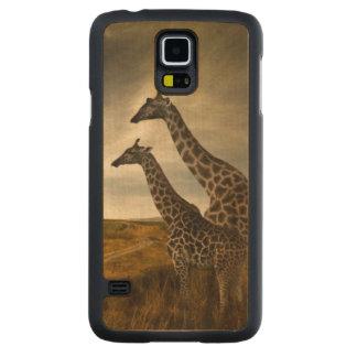 Girafes et le paysage coque slim galaxy s5 en érable