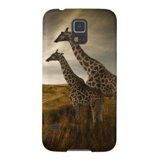 Girafes et le paysage coques galaxy s5