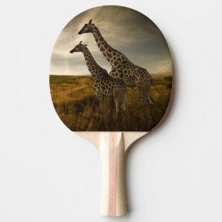 Girafes et le paysage raquette tennis de table