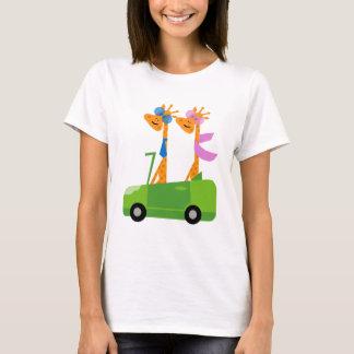 Girafes et voiture t-shirt