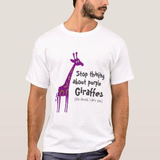 Girafes pourpres t-shirt