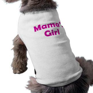 Girl de maman - T-shirt de chien